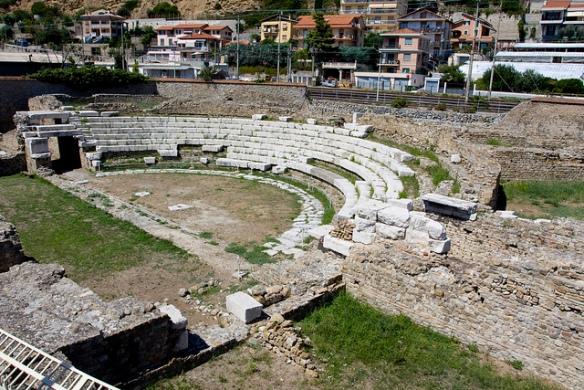 amphitheatre ruins in Ventimiglia