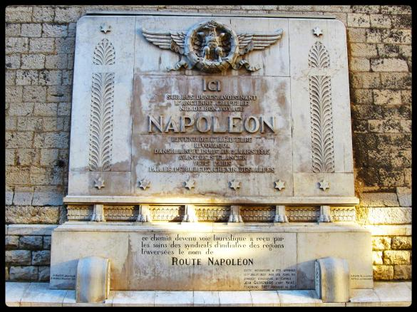 Napoléon plaque in Cannes