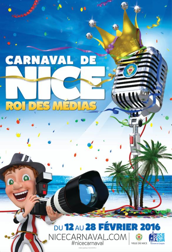 Carnaval de Nice theme: Roi des Medias